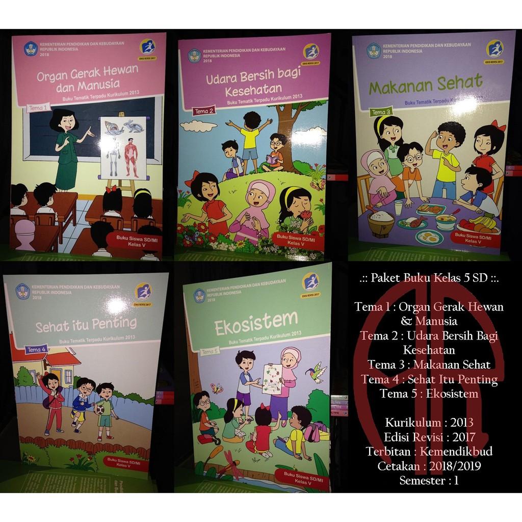Paket 9 Buku Tematik Kelas 5 Sd Tema 1 9 Revisi 2017 Kurikulum 2013 Shopee Indonesia