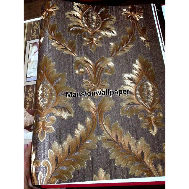 Wallpaper Dinding Klasik Gold Mewah Emboss Shopee Indonesia