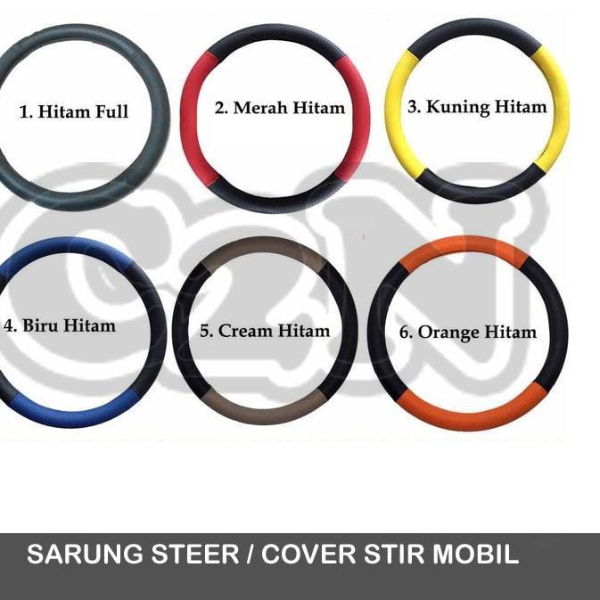 *__* Autorace Cover Stir / Sarung Stir mobil / Bungkus stir Semi kulit autorace