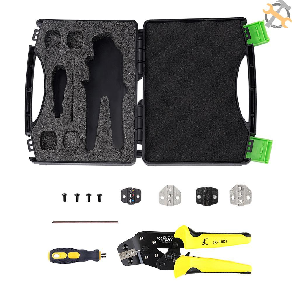 0.1-16mm² Heavy Duty Ratchet Crimping Plier Wire Cable Crimper Electricians Tool