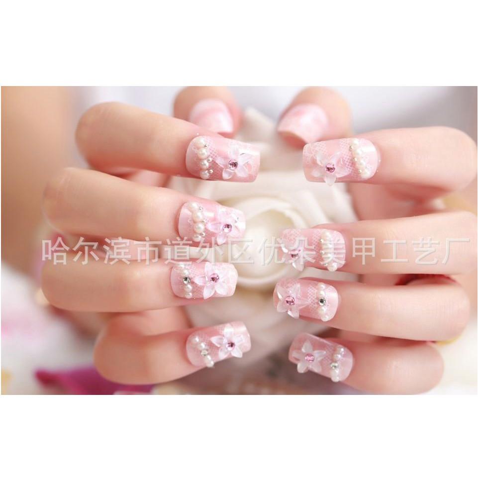 Kuku Palsu Cantik Rilakkuma B14 Wedding Fake Nail 3d Art Jbs Nails A41 Shopee Indonesia
