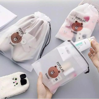 HOVELSHOP TRAVEL POUCH ORGANIZER - TAS SERUT ANTI AIR - TAS MAKE UP KOSMETIK - POUCH LUCU