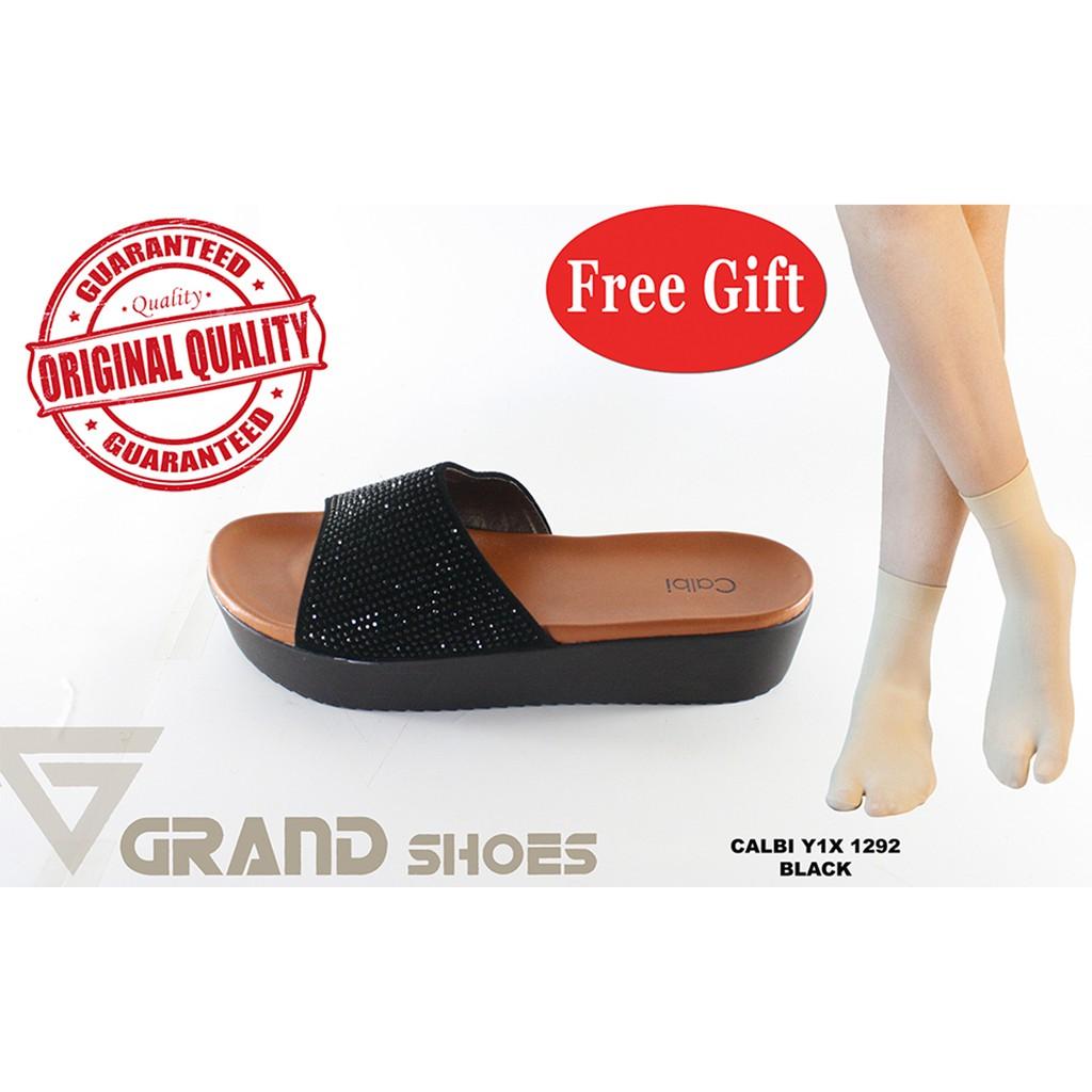 calbi nux 1291 sandal wedges wanita hitam   merah MURAH GRATIS PROMO  ORIGINAL AWET NYAMAN SOL EMPUK  7b47ce8222