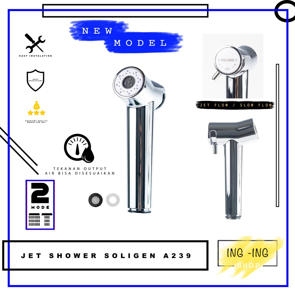 Jet Shower Bidet Soligen A239 / Toilet Shower Cebok / Jet Sower Wc / Semprotan Toilet duduk