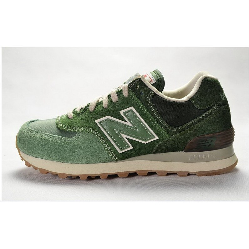 Shoes sneakers running model New Balance 574 nb574 green color breathable  for men/women