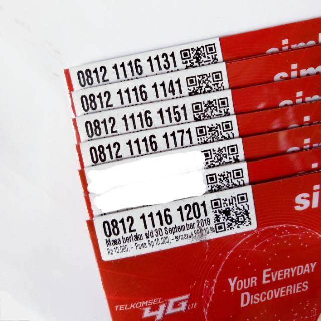Obral Nomor Cantik LOOP 4G LTE Pulsa 2rb Kartu Perdana Telkomsel Sim 3in1 Nocan Triple Delapan