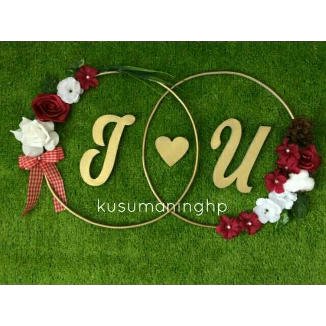 Lingkaran Huruf Nama Foam Kertas Dekorasi Wedding Engagement Aqiqah Wreath Inisial Lamaran Styrofoam Shopee Indonesia