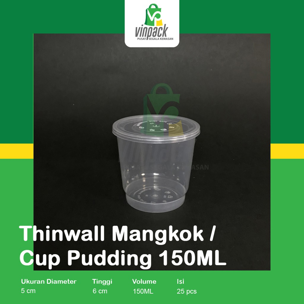 Thinwall 150ml / Cup Puding 150ml / Gelas/ Cup pudding/ Es krim