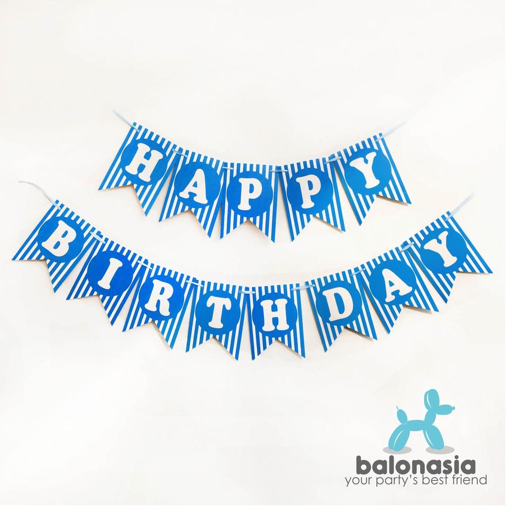 Banner Dekorasi Happy Birthday dengan Bola Pompom Warna-Warni   Shopee Indonesia