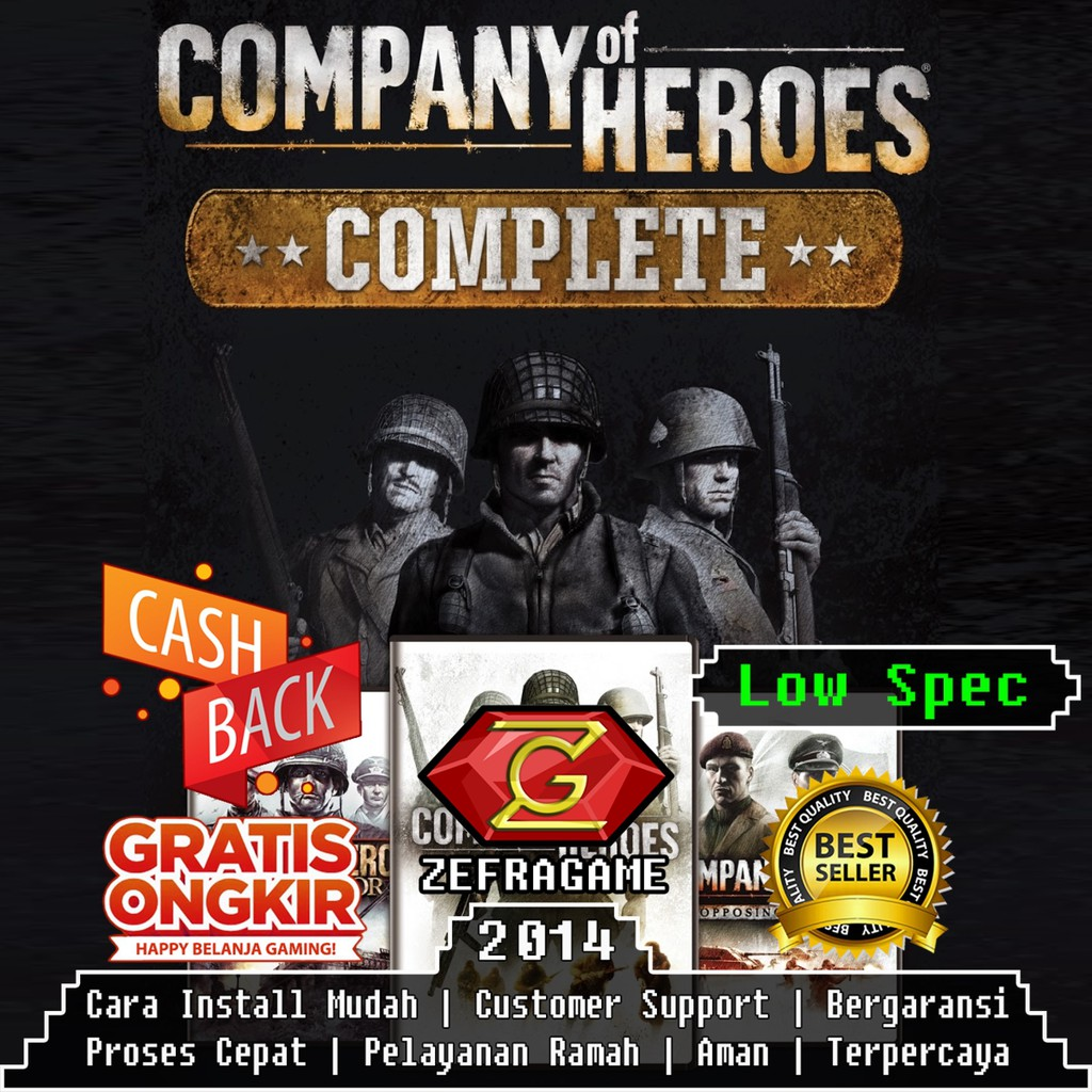 Company Of Heroes 1 Complete Edition Coh1 Coh 1 Dvd Game Pc Kaset Game Laptop Shopee Indonesia