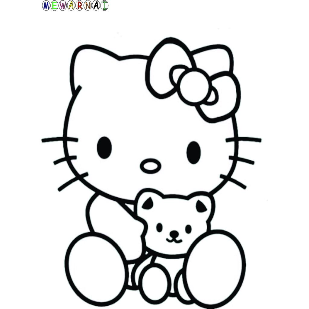 Paket Mewarnai Bisa Dipajang Hello Kitty Shopee Indonesia