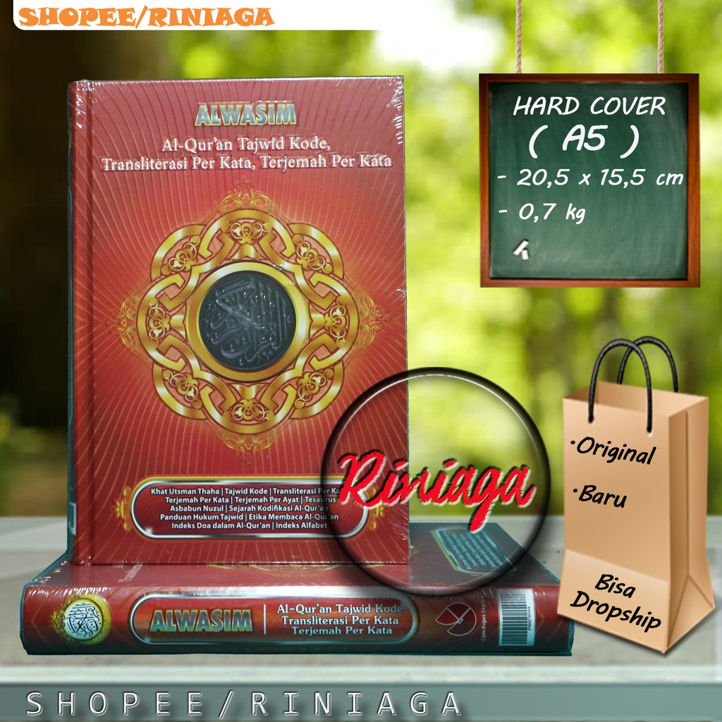 [A5 MERAH] Al Quran Al Wasim Transliterasi Latin Terjemah Tajwid Kode garis  CBS