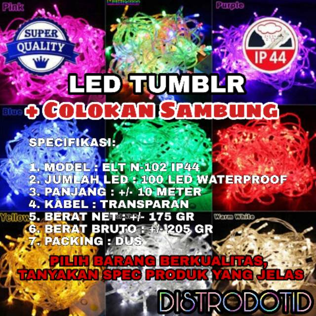 TUMBLR LAMP BIRU / TUMBLR LIGHT / LED LAMP / LAMPU NATAL | Shopee Indonesia