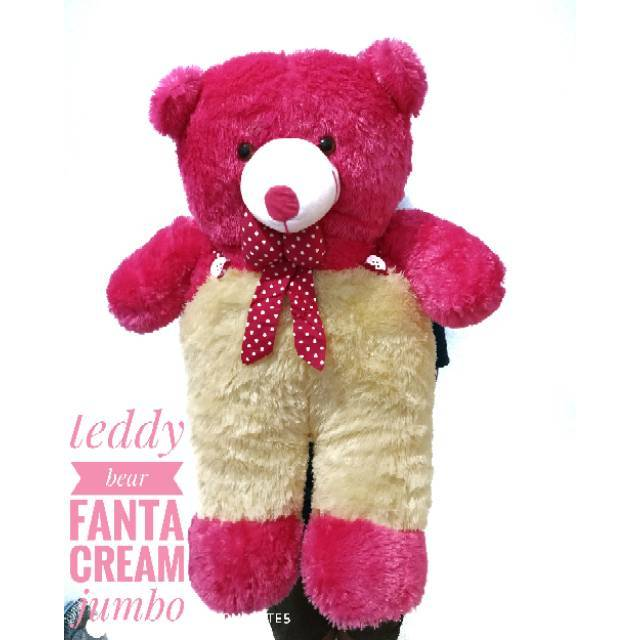 Boneka beruang teddy bear jojon jumbo cream .