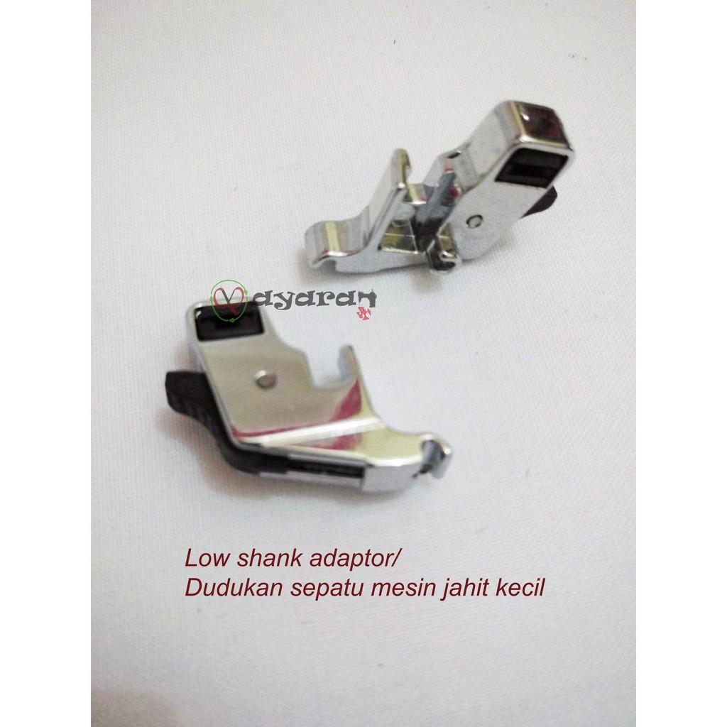 Low Shank Foot Adapter Dudukan Sepatu Mesin Jahit Kecil Kotak