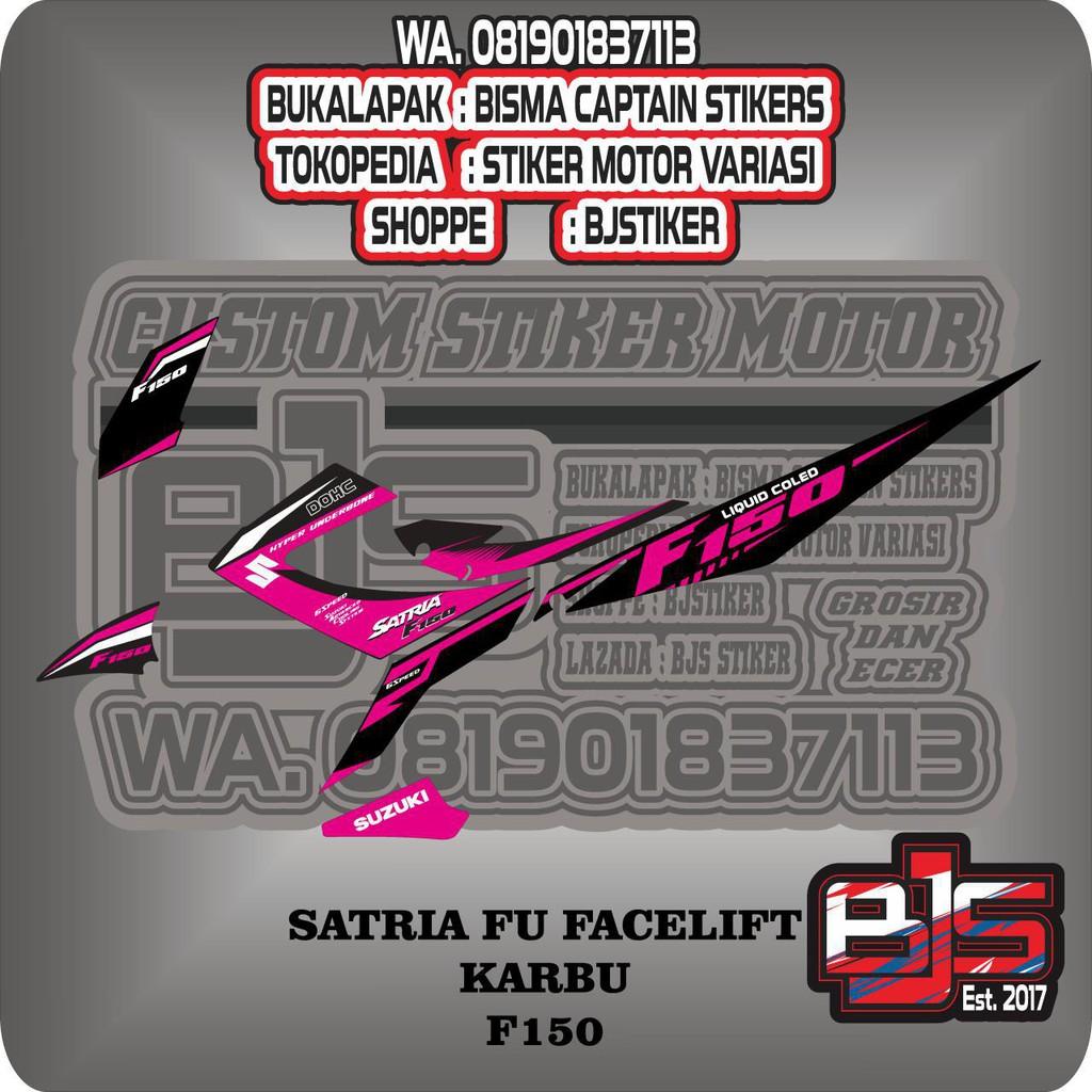stiker striping list motor satria fu karbu f 150 semi decal
