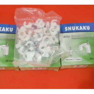 Klem kabel/Round Cable Clips Paku beton 7 mm DELTA | Shopee