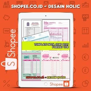 Koleksi Template Desain Nota Siap Edit Format Cdr