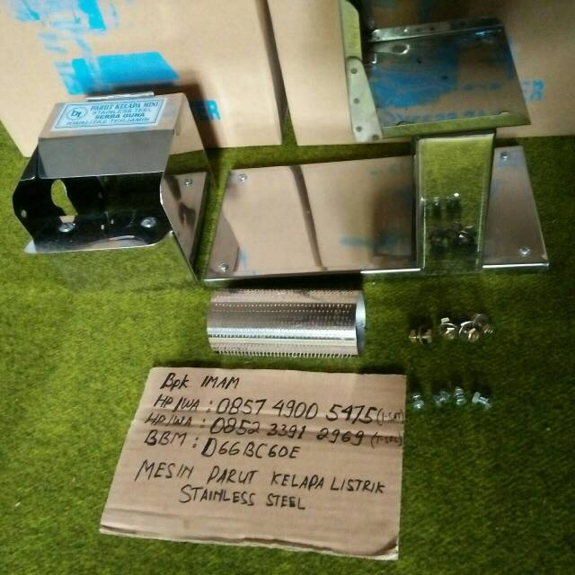 Mesin Parut Kelapa Listrik Mini Stainless Full Inovasi Baru, Selip Kelapa Stainless | Shopee Indonesia