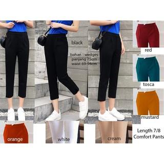 Celana Formal Wanita Celana Kerja Celana Panjang Celana Kantor Cewek Ce LG6150 MIDI PANTS 7 8   Shopee Indonesia