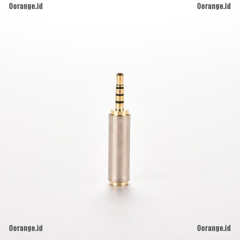 Audio 3.5mm Male Plug to 2.5mm Female Jack Aux Stereo MIC TRRS Adapter