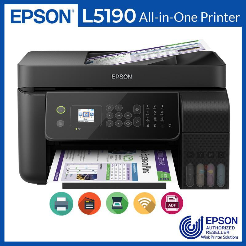 Printer Epson L5190 Infus Print Scan Copy Wifi Fax Adf F4 Resmi Shopee Indonesia