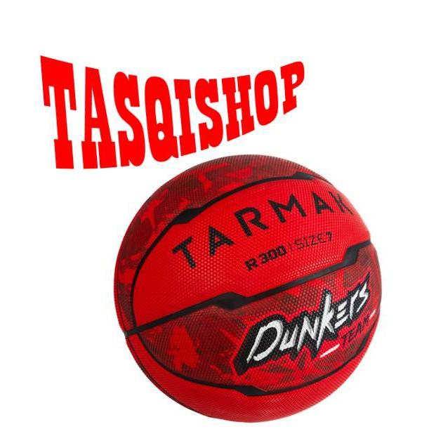 Tarmak Bola Basket R500 Size 7 Hardground Bola Basket Karet Outdoor Red Merah Original Murah Impor Shopee Indonesia