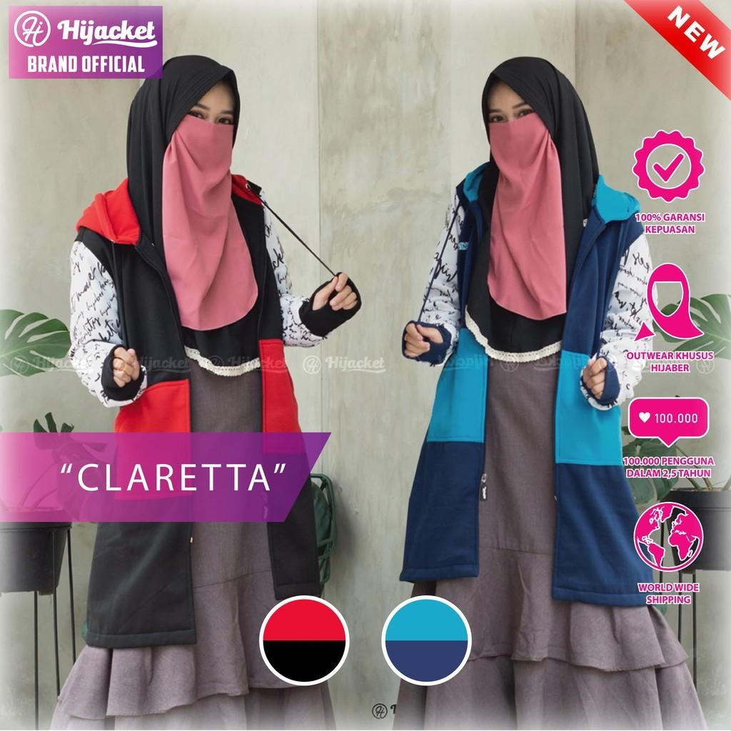 NEW Hijacket CLARETTA Original ALL SIZE Jaket Hijab Muslim  745857cb99