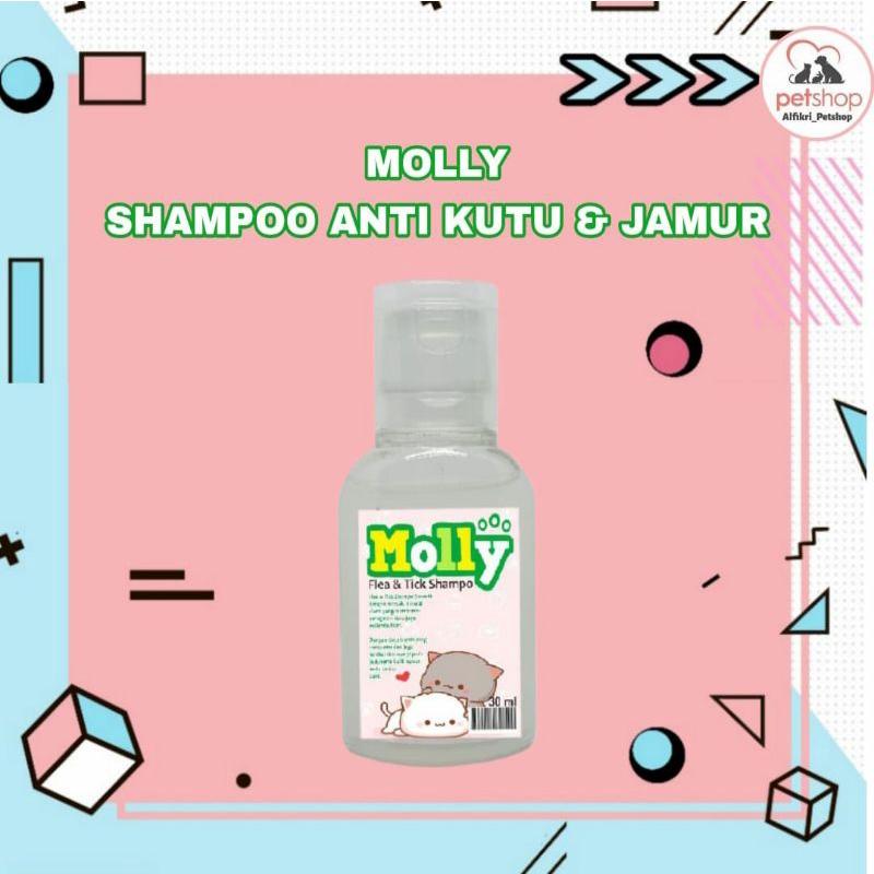 Parfum dan Shampoo Kucing Anjing Merk Molly Kemasan Ekonomis-Shampo Kutu Jamur