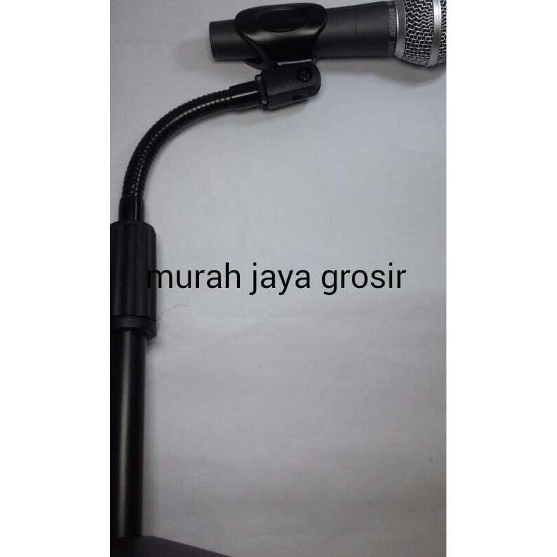 New Stand Mic Rekaman / Condenser Microphone & Phone Holder 360 Degree Gratis Ongkir   Shopee