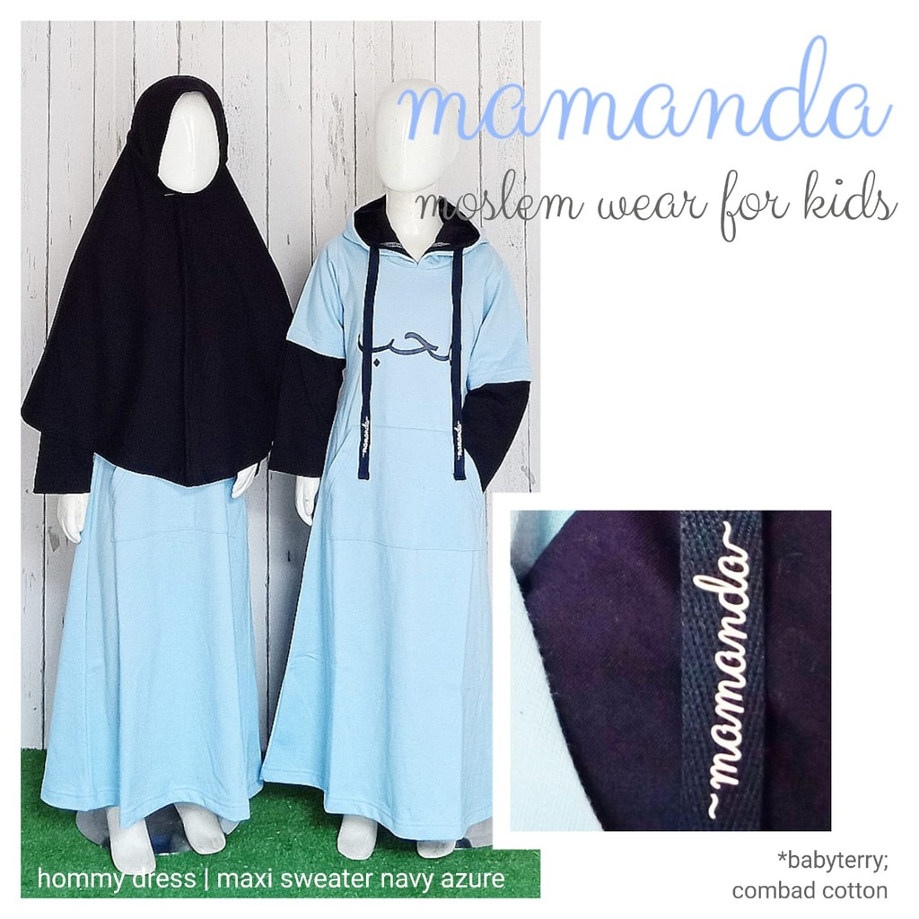 Gamis Anak Maxi Swtr Navy Azure Hommy Dress by Mamanda