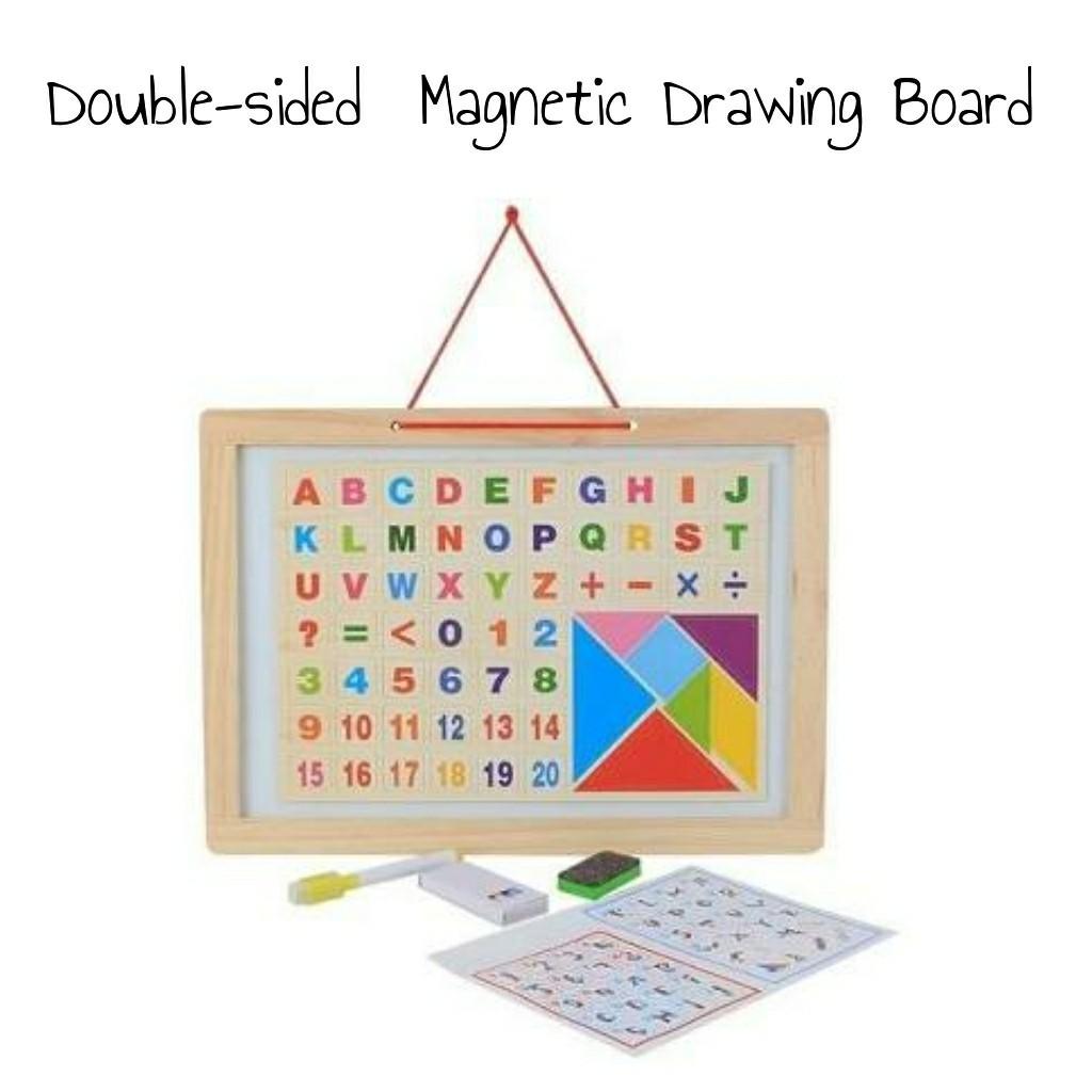 Edufuntoys - DRAWING SIDED - MAGNET BOARD/ papan tulis anak 2 sisi bisa berdiri | Shopee Indonesia