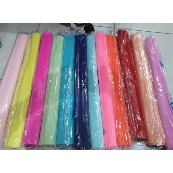 Ready Stock Kertas Krep Paper Crepe Per Pack Isi 25 Lembar Ivory
