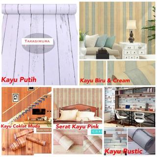 Wallpaper Dinding 45 CM x 10 M Bata Putih Bata Abu 3D Grey