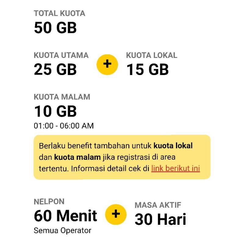 PROMO KUOTA INDOSAT IM3 FREEDOM COMBO 50 GB