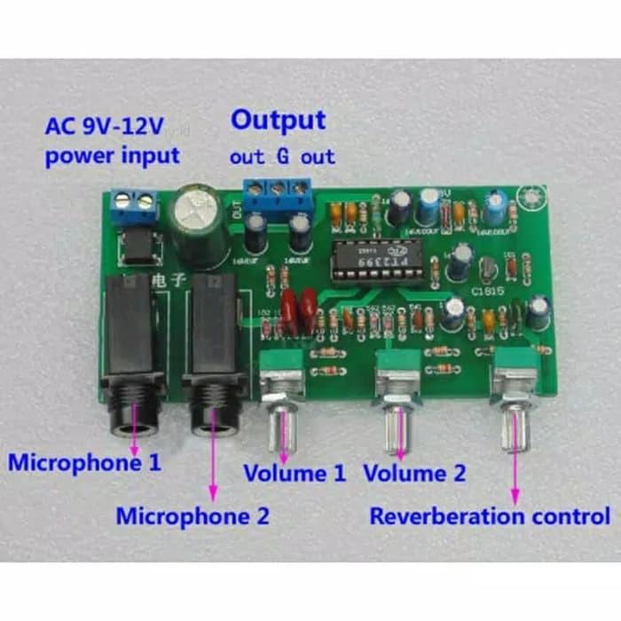 Pt2399 Preamp Mic Reverb Echo Amplifier Mic Karaoke Kit 12v Microphone Shopee Indonesia