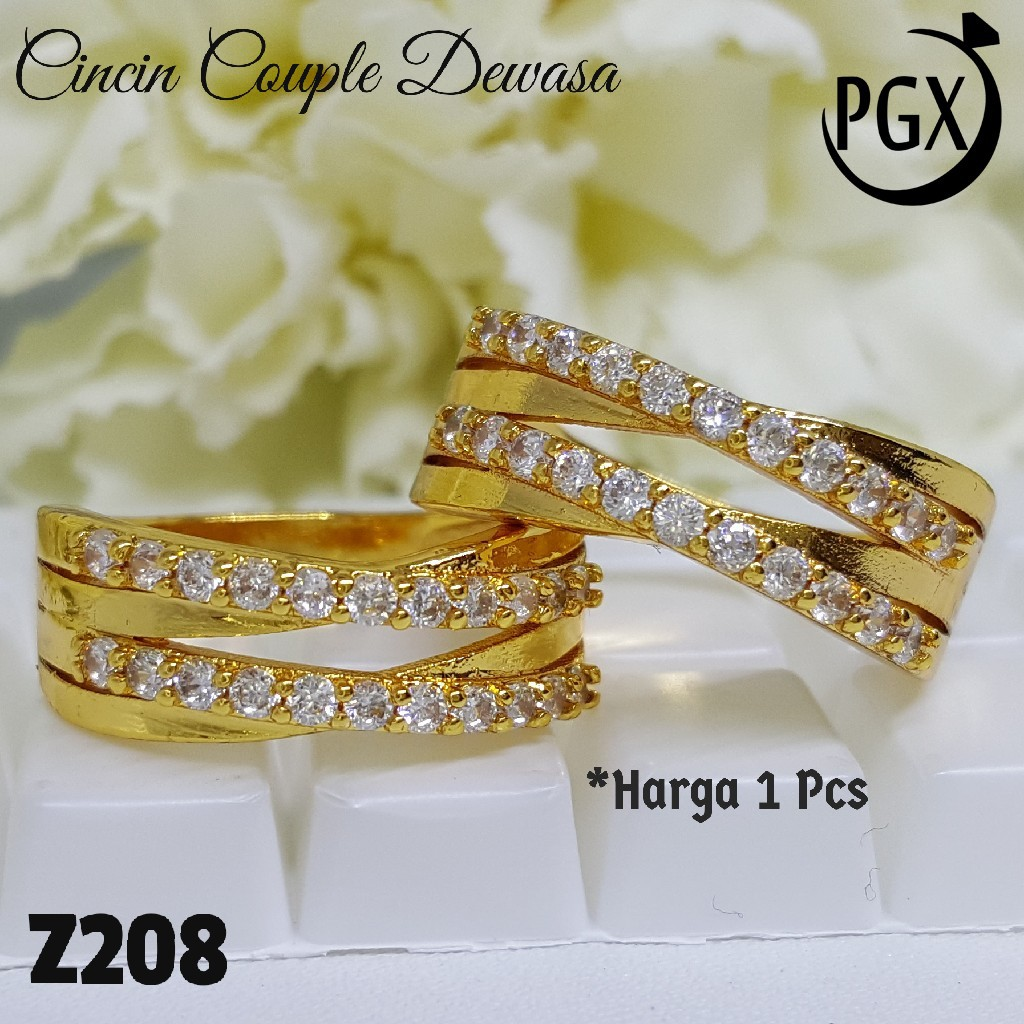 Cincin Imitasi Emas Putih Kendari Import Shopee Indonesia Hongkong Tali 24 Karat