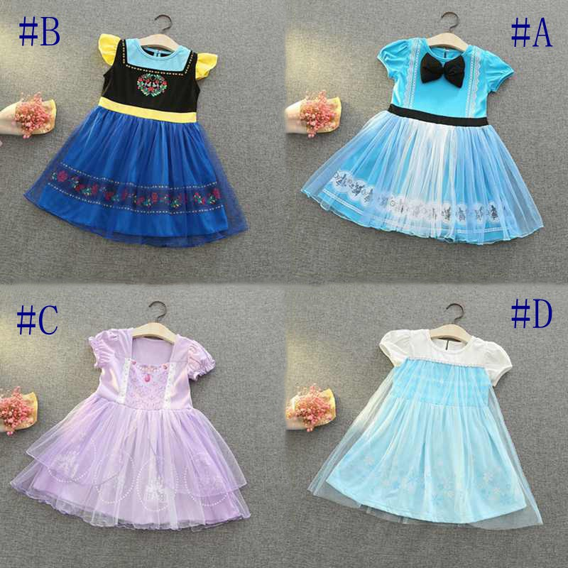Gaun Pesta Dengan Model Kostum Princess Dan Gambar Kartun Untuk Anak Perempuan