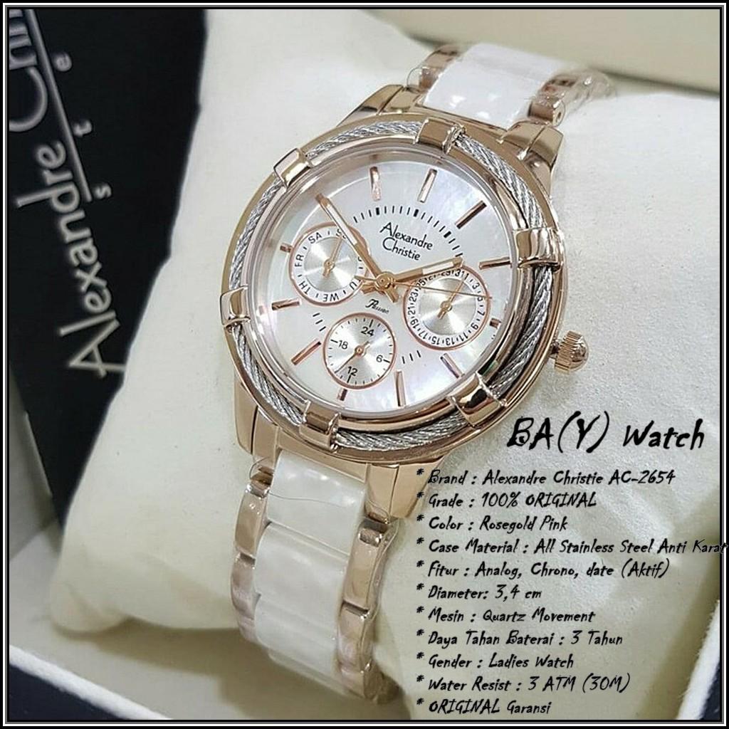 Harga Jual Jam Tangan Wanita Alexandre Christie Ac 6141 Warna Full Pria Rosegold Ac944 Coklat 2654 Pink Original Analog Watch Womans