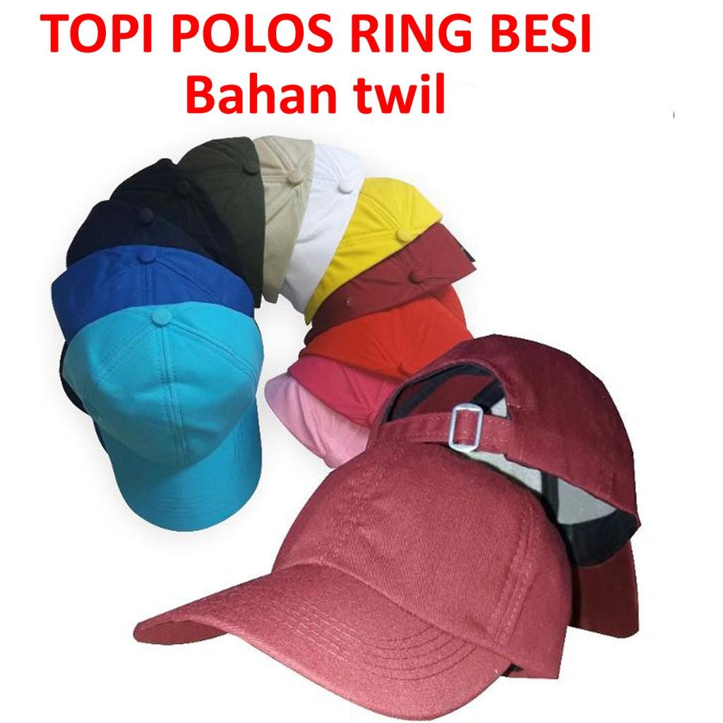 topi polos ring besi bahan twill topi baseball dewasa  d634261ed9