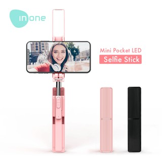 Inone LED Lightning Selfie Stick Mini Pocket Size 3 gear with Wireless Bluetooth Remote  A13