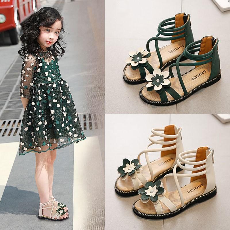Sendal Bayi Girls Sandals 2019 Han Edition Summer New Fashion Girl Princess Shoes Children Female Soft Bottom Rome Shopee Indonesia