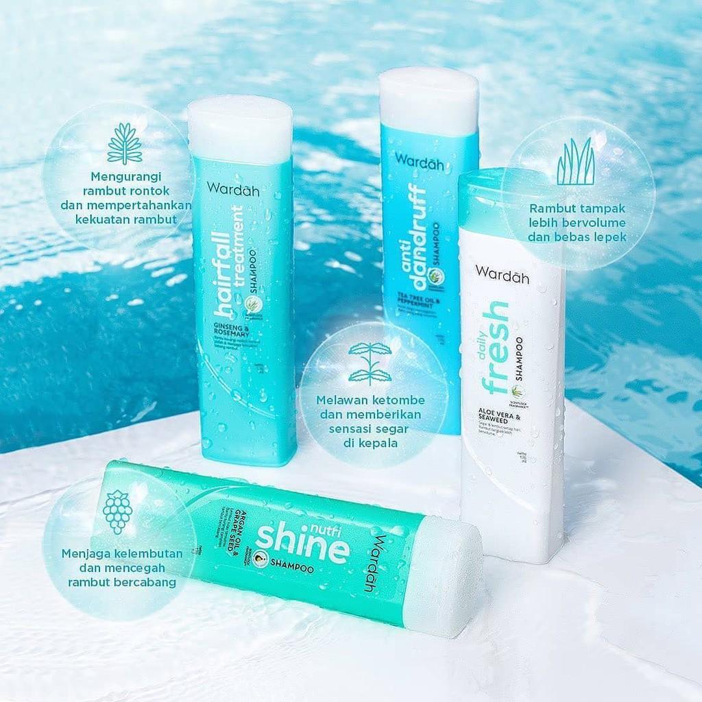 ❤ BELIA ❤ Wardah Shampoo & Conditioner   Daily Fresh Hairfall Treatment Anti Dandruff Nutri Shine-6