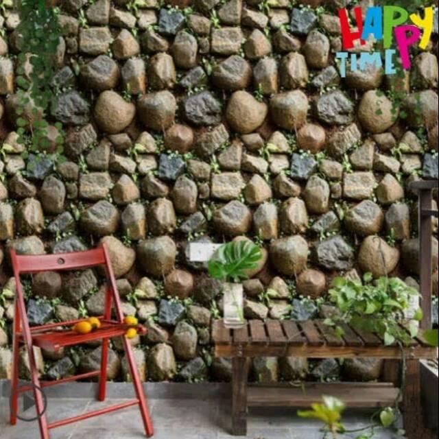 Wallpaper Dinding Murah Ruang Tamu Batu Unik Elegan Menarik Terbagus Shopee Indonesia