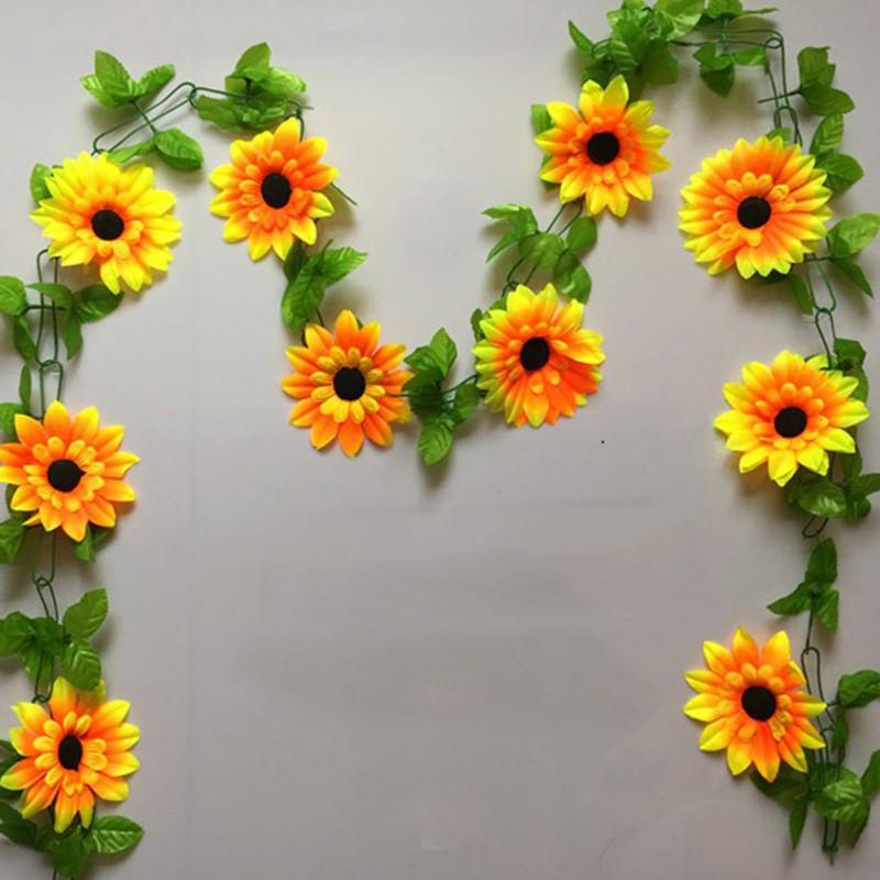 2pcs Bunga Matahari Buatan Diy Bahan Rotan Untuk Dekorasi Interior Shopee Indonesia