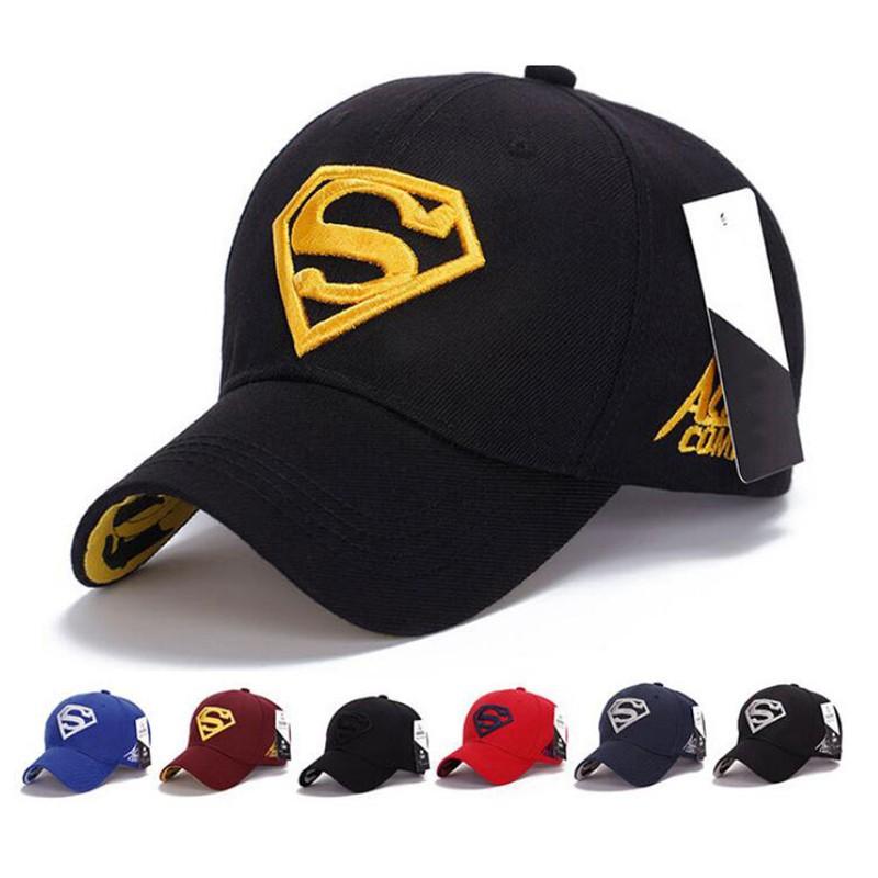 Topi Baseball Snapback Motif Simbol Superman Bordir untuk Pria Wanita  4a21cb9764