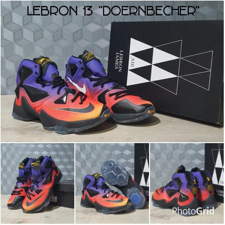 HOT Sepatu Basket Nike Lebron 13 High Premium Murmer Doernbercher  Berkualitas  6fd7961c36