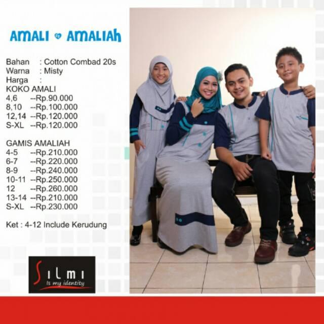 Seragam keluarga muslim couple baju branded sarimbit murah koko gamis ayah ibu dan anak | Shopee Indonesia