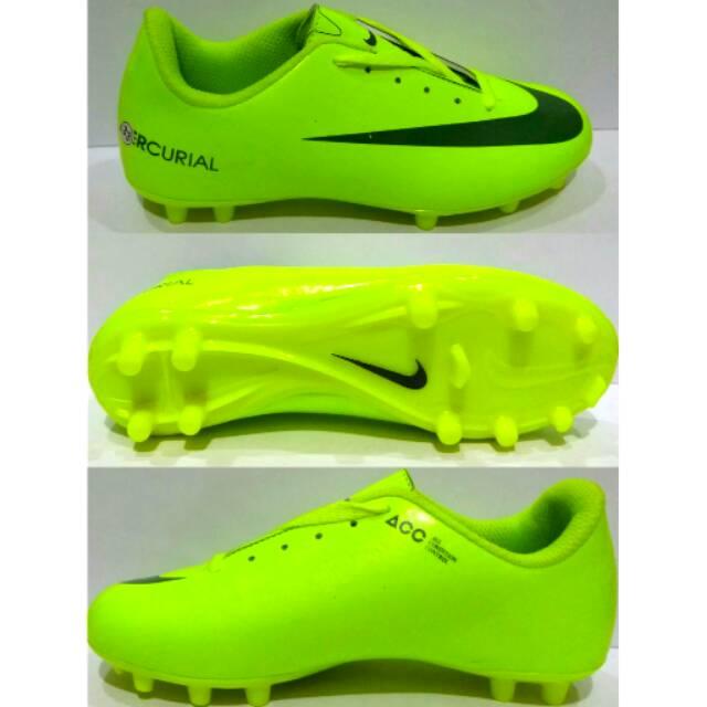 Sepatu Bola Anak Nike Mercurial Hitam Orange List Biru Size 33 34 35 36 37  Kids Terbaru  f8bd0d1711