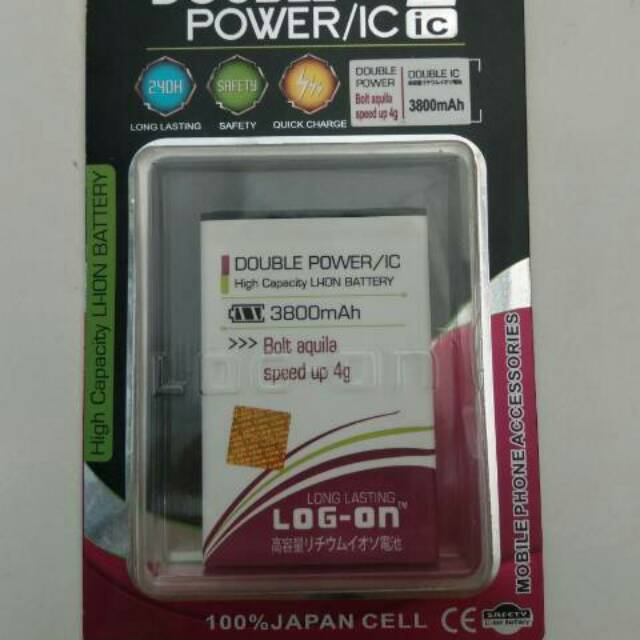 Batre Dobel Power Advan i5/Vandroid i5 4G LTE Baterai/Battery Log On Double Power/2 IC   Shopee Indonesia